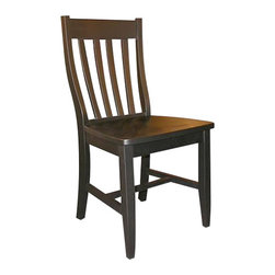 International Concepts - International Concepts SchoolHouse Wood Side Chair in Black Finish (Set of Two) - International Concepts -Dining Chairs -C4661P -Appealing classic and simple lines International Concepts SchoolHouse Chair will make a perfect addition to your kitchen and dining room . The black finish with wood construction makes the chair function as it is stylish.