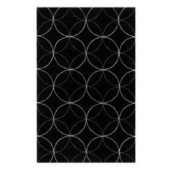 Surya Rugs - Cosmopolitan Black Contemporary Rug - COS-8872 - Construction: Hand made