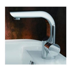 Fresca - Mazaro Single Hole Mount Bathroom Vanity Fauc - Hyrdroplast Mixing Valve w/ Water Saving Control. Finish: Chrome. 1/2 in. - 14 NPS Connection. Single Hole Faucet Mount. All Mounting Hardware Included. Product Material: Brass. Spout Height: 5.63 in. . Spout Reach: 4.5 in. . 4.75 in. W x 6.63 in. D x 6.88 in. HThis single hole faucet is made from heavy duty brass with a chrome finish. Features a Hydroplast mixing valve with water saving control.