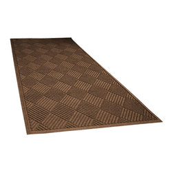 Bungalow Flooring - 36 in. L x 100 in. W Dark Brown Waterguard Diamonds Mat - Made to order. Distinct design traps dirt, resists fading, rot and mildew. Indoor and outdoor use. 36 in. L x 100 in. W x 0.5 in. H