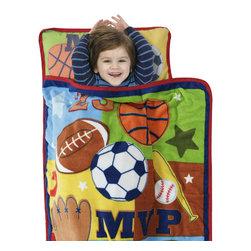 Betesh Group - MVP Multi-Sports Football Baseball Slumber Roll Nap Mat - Features: