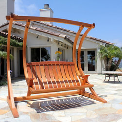 Sunniva Outdoor Swing & Stand - Porch swings evoke great memories of hanging out with family and friends enjoying spring, summer or fall weather.