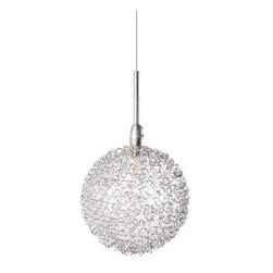 ET2 Lighting - Contemporary Mini-Pendant - E20108-78 - Contemporary / modern low voltage satin nickel 1-light mini-pendant light. Takes (1) 20-watt xenon T3 bulb(s). Bulb(s) sold separately. Dry location rated.