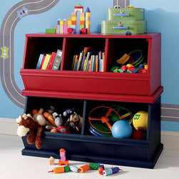 Storagepalooza Bins - If you want to do wall storage, Land of Nod's Storagepalooza cubbies are a great way to go. There are so many configuration options and lovely color choices. Plus, the open cubby system would make toy clean-up a breeze.