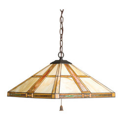 Kichler - Kichler 65069 Tarlton 3-Bulb Indoor Pendant with Pyramid-Shaped Glass Shade - Kichler 65069 Tarlton Pendant