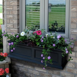 Mayne 36-Inch Rectangle Polyethylene Fairfield Window Box with Optional Mounting