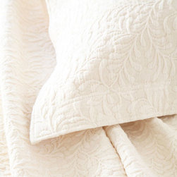 Pine Cone Hill - scramble matelasse coverlet (ivory) - Make a statement with intricately stitched branches that twine over this soft cotton matelasse coverlet.��This item comes in��ivory.��This item size is��various sizes.
