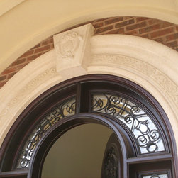 Surrounds & Moldings - Stone surrounds can add elegance to any home. We offer several different types and styles as well as colors and finishes. We can also do custom precast work on front doors or windows if you would like to design your own profile. Stone moldings add beauty and elegance to any custom home.