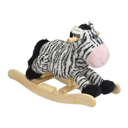 Fifthroom - Plush Zany Zebra Rocker - This adorable zebra sits low to the ground to provide a soft and cozy ride for your tiny ones.  It makes a cute addition to the nursery and will quickly become one of your child's favorite toys.