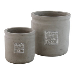 """Selectives - Favo Decorative Planters, Set of 2 - Whether you are bringing the oudoors in, decorating an outdoor space, this set of 2 gorgeous ceramic planters is perfect for that job that will add a custom and unique look to your home.  Product dimensions: Large-7""""dia x 7""""H; Small- 5""""dia x 5""""H"""