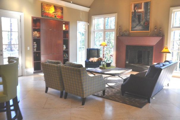 Contemporary Family Room by Robin LaMonte/Rooms Revamped