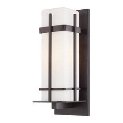 Minka Lavery - Minka Lavery Outdoor 72353-615B-PL Sterling Heights 1 Light Wall Sconce - Dorian Bronze Finish