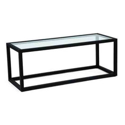 Woodard Salona Coffee Table - Our Salona coffee table by Joe Ruggiero and Woodard is shown in a Midnight Finish.Glass Top Coffee Table