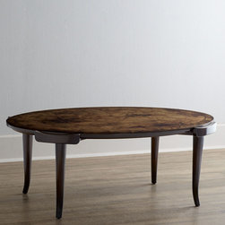 John-Richard Collection Darwin Coffee Table with Reverse-Painted Top -