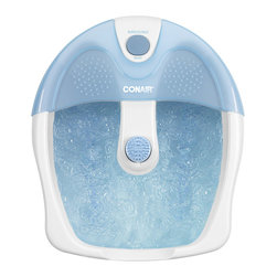 Conair - Conair Foot Bath with Bubbles and Heat - Give your feet the treatment they deserve at the end of a long hard day with a massaging foot bath. Therapeutic heat combined with soothing bubbles and over 150 massage nodes will revitalize your sore feet. Plus, the tub is deep enough to cover your feet entirely.