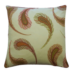 Jiti - Jiti Peacock Satin Cotton Pillow - Features: