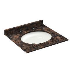 LessCare - 25x22 Baltic Brown Granite Vanity Countertops - 8 Faucet Spread - *Condition: New