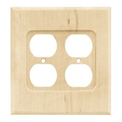 Liberty Hardware - Liberty Hardware 64651 Wood Square WP Collection 5.28 Inch Switch Plate - Unfini - A simple change can make a huge impact on the look and feel of any room. Change out your old wall plates and give any room a brand new feel. Experience the look of a quality Liberty Hardware wall plate.. Width - 5.28 Inch,Height - 5.7 Inch,Projection - 0.3 Inch,Finish - Unfinished Wood,Weight - 0.22 Lbs