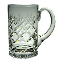 Lavish Shoestring - Consigned Cut Glass 1 Pint Beer Tankard, Vintage English - This is a vintage one-of-a-kind item.