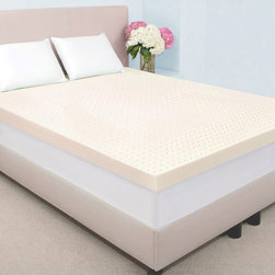Dream Form - Dream Form Fresh 4-inch Memory Foam Mattress Topper - This four-inch memory foam mattress topper adds extra comfort to any mattress. The thick foam padding is fully breathable,preventing odor and keeping your mattress clean and fresh. The foam is ideal for relieving pressure and promoting sound sleep.