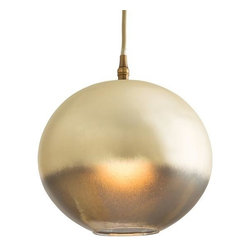 Arteriors - Arteriors Lily Pendant - Material: GlassFinish: Leopard SilveriaNumber of Lamps: 1Socket Type: Type A - E26Bulb Type: A19 IncandescentThis one light leopard silveria glass sphere pendant has a beautiful candle-like golden glow when lit. A unique and beautiful example of ombre coloration.