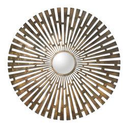 Uttermost - Tremeca Starburst Mirror, Brushed Brass - Brushed Brass Tremeca Brass Starburst Mirror