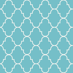 """Classic Trellis Wallpaper, Tiffany Blue, 25"""" X 4.5' - """"Swag Paper - Empowering the Do-It-Yourselfer:"""