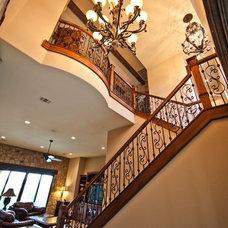 Mediterranean Staircase by JMC Designs llc