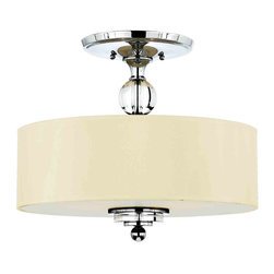 Quoizel Lighting - Quoizel DW1717C Downtown Polished Chrome Semi-Flush Mount - 3, 100W A19 Medium