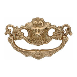 Renovators Supply - Cabinet Pulls Bright Solid Brass Solid Brass Dragon Cabinet Pull | 49019 - Drawer Pull. This drawer pull is protected by our exclusive RSF finish. It has a 2 13/16 in. boring and is 4 1/4 in. long x 2 in. high.