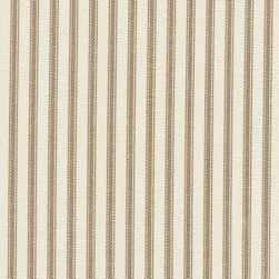 Orien Textile - Ticking Fabric, Suede - Screen printed on cotton this fabric is perfect for decorating. Colors include grass and ivory. This fabric is great for throw pillows, duvet covers, draperies, valances or light upholstery. Try your hand with tote bags and handbags