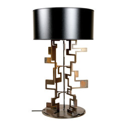 Hall Retrograde Table Lamp - Choosing a fun and funky lamp is a great way to add a conversation piece!