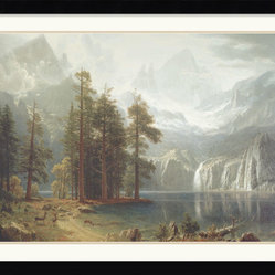 Sierra Nevada Framed Print by Albert Bierstadt