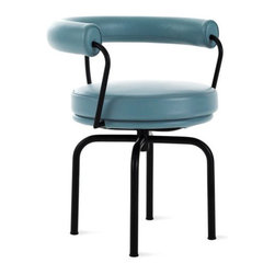 LC7 Chair in Matte Black with Royal Hide - I love the color and the black tubular frame of this chair.