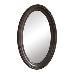 Kaco International Inc. - Kaco Mount Vernon Small Mirror - The Mount Vernon mirror makes a beautiful addition to the bath with its solid-frame and beveled edge and is made to match the Mount Vernon series of bath cabinets from Kaco. All Kaco Mount Vernon pieces are expertly finished in a bold merlot Sherwin Williams multi-step finish.