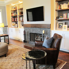 Transitional Family Room by Lauren M. Smith Interiors, LLC