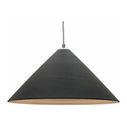 Nuevo Living - Colette Black Pendant Light by Nuevo - HGHO134 - The Colette Pendant light features a matte anodized black finish on the outside and a retro modern gold finish on the inside.   The Colette is a good example of pendant lights for kitchen island or really any location that single pendant lights can be used by themselves or in a line.  Easy to install and easy to maintain, but this modern pendant light looks great for home or office.