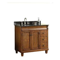 Pegasus - Pegasus Vanity Cabinet in Oak (MD-V1210) - 36 in. W x 34-1/4 in. H x 21 in. D Vanity Cabinet Only in Oak