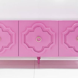 Marrakech Credenza, Gloss Pink - Every office needs storage. A pop of pink will do the trick.