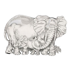 "Arthur Court - Elephant 6"" Napkin Holder - Even napkins of mammoth proportions will stay put when you use this extra large napkin holder. The mama elephant with baby are crafted of gleaming, sand-cast and hand-polished aluminum … and will no doubt make a big hit at your next soiree."
