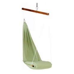 Special Hanging Lounge Chair Hammock, Green by Hangover Hammocks