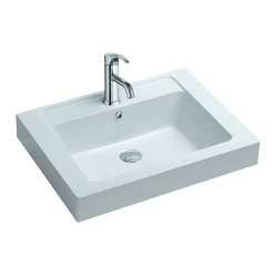 Matte White Countertop Stone Resin Sink