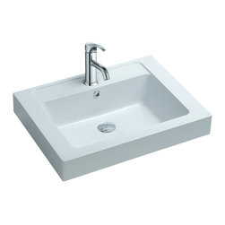 ADM - ADM Matte White Countertop Stone Resin Sink - Spiff up your old, tired bathroom with a new countertop sink. This matte white, stone sink from England is small enough for a limited space yet adds a chic and sleek look that is timeless.
