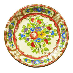 EuroLux Home - 1950 Large Consigned Vintage Plate Bequet Ceramic - Product Details