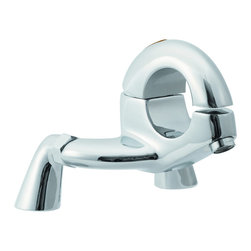 Hudson Reed - Hola Thermostatic Bath Mixer Faucet Filler Deck Mounted Chrome Plated Finish - Featuring an eye-catching design the Hudson Reed Hola tub faucet is sure to add contemporary style to any bathroom. This high quality faucet has been made from solid brass with a chrome plated finish, which will blend in perfectly with any decor.