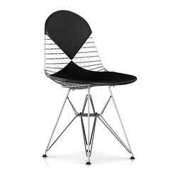 Herman Miller - Eames Bikini Wire Chair - Affectionately referred to as the bikini chair, this is no ordinary bathing beauty. This iconic piece juxtaposes the perfect balance of wire and leather — a mix that has stood the test of time since 1951. Created by the renowned design team of Charles and Ray Eames, it remains as popular today as it was a half century ago.