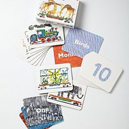 """Anthropologie - 1,2,3 To The Zoo Flashcards - Set of 20 flash cardsCardboard5.5""""H, 7""""W Imported"""