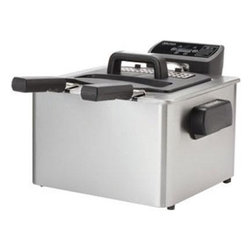 Aroma - Digital Deep Fryer - The Aroma Smart Fry XL 4-Quart digital deep fryer includes 3 frying baskets to cook up one large single dish or two separate dishes. The powerful 1800-watt immersed heating element provides quick and even heating while digital controls including 10 preprogrammed functions ensure your meals are both simple and delicious. This item cannot be shipped to APO/FPO addresses. Please accept our apologies.