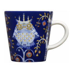 Iittala - Taika Espresso Cup, Blue - You'll really want to linger over espresso served in this charming cup. The adorable owl print seems to have flown in from a favorite fairy tale to make your real world more magical.