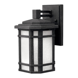 Hinkley Lighting - Cherry Creek Wall Outdoor Lantern - Minimal works when it is perfect — and this is perfect. You'll love the look of this outdoor lantern beside your front door or in the dark corners of your backyard. Light up the space and your life, too.